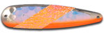 Warrior Lures 308N Killer Orange trolling / fishing spoons.  Muskee, Salmon, Lake Trout, Steelhead trolling / fishing spoons.