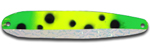 Warrior Lures FL 332NC Green Froggy Flutter fishing spoons.  Salmon, SteelHead and Walleye fishing spoons.